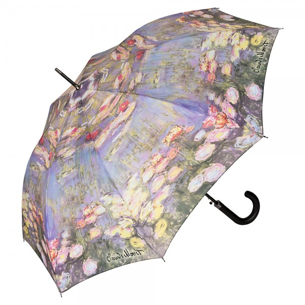 Umbrella Automatic Motif Art Claude Monet: Waterlilies
