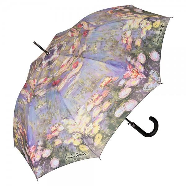 Regenschirm Automatik Kunst Motiv Claude Monet: Seerosen