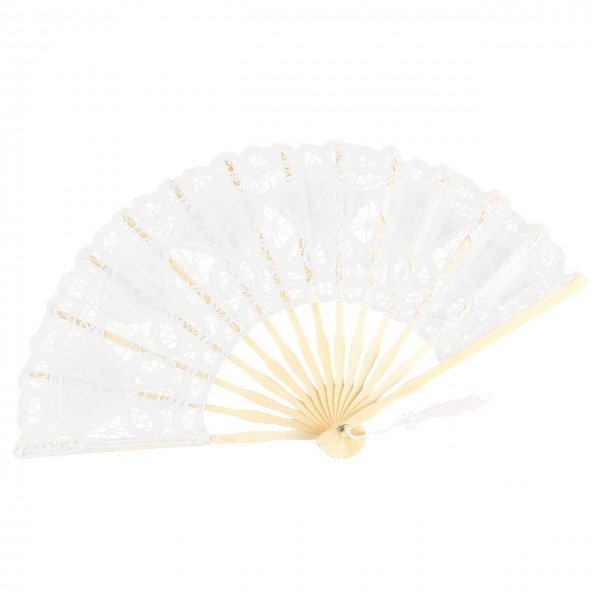 Lace fan Carmen, white