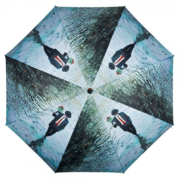 Umbrella Automatic Motif Art Theo Michael: Romance