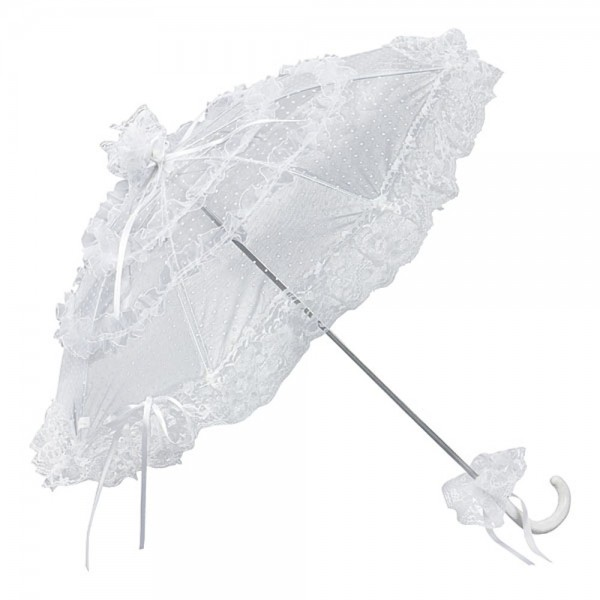 "Bridal umbrella ""Salomea"", white"