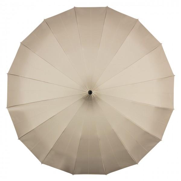 "Regenschirm Pagode ""Cécile"", beige, UV-Schutz, innen silber  (metallic)"