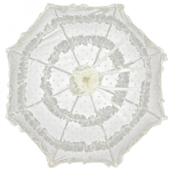 "Bridal umbrella ""Salomea"", champagne"