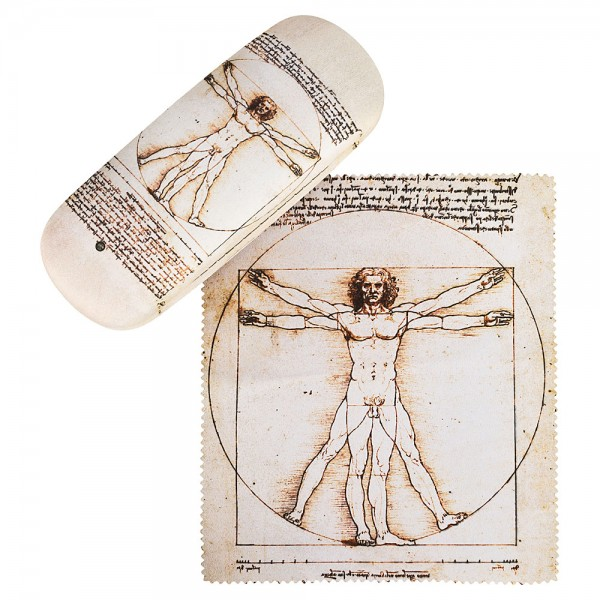 Glasses case Leonardo da Vinci: The Vitruvian Man