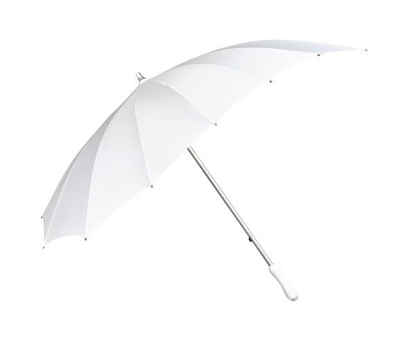 Regenschirm Sonnenschirm Hochzeitsschirm Herz weiß