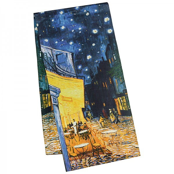 Seidenschal Satin lang 172 x 42 cm Vincent van Gogh: Nachtcafé