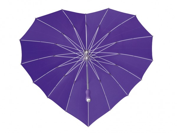 Motive umbrella Heart purple