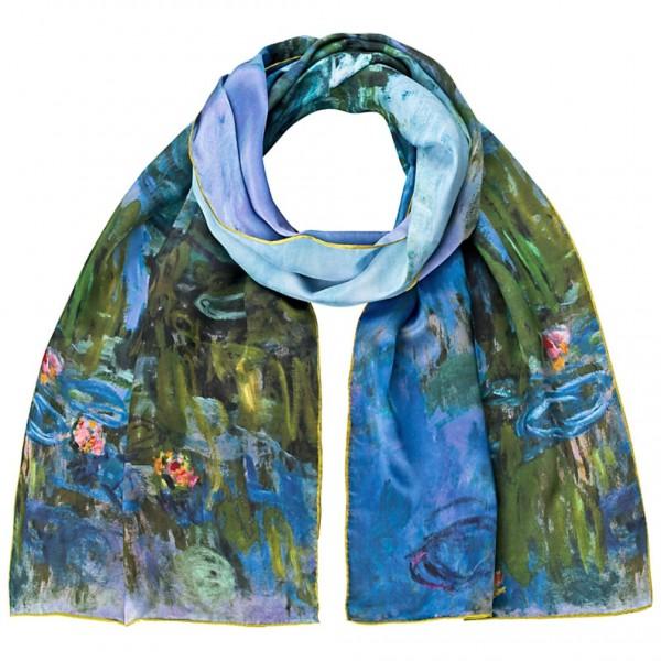 Seidenschal Satin lang 172 x 42 cm Claude Monet: Seerosen