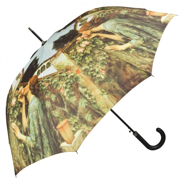 Umbrella Automatic Motif Art John W. Waterhouse: My Sweet Rose