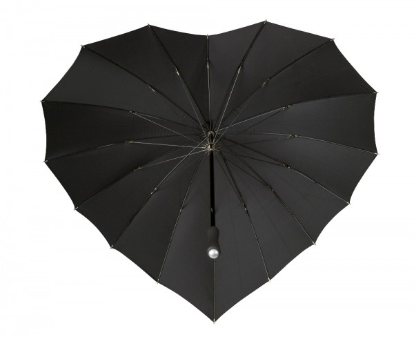 Motive umbrella Heart black
