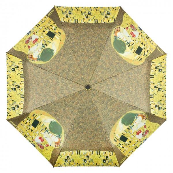 Taschenschirm  Kunst Motiv Gustav Klimt: Der Kuss Auf-Automatik