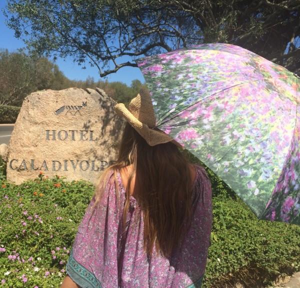 Taschenschirm Kunst Claude Monet: Der Garten Auf-Zu-Automatik