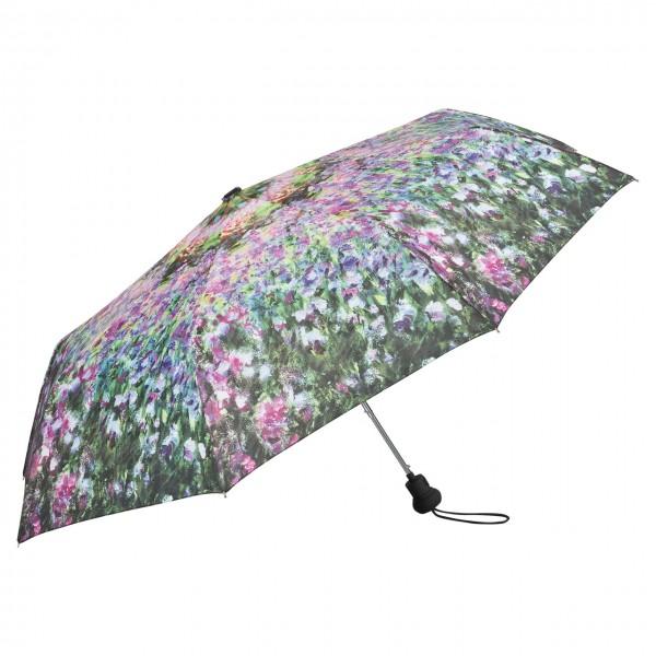 Taschenschirm Motiv Kunst Claude Monet: Der Garten Auf-Automatik