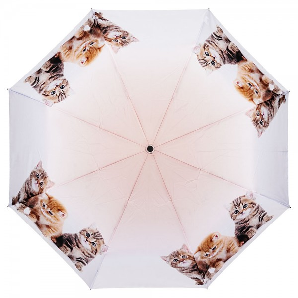 Folding pocket umbrella auto-open-close telescopic Kittens Trio