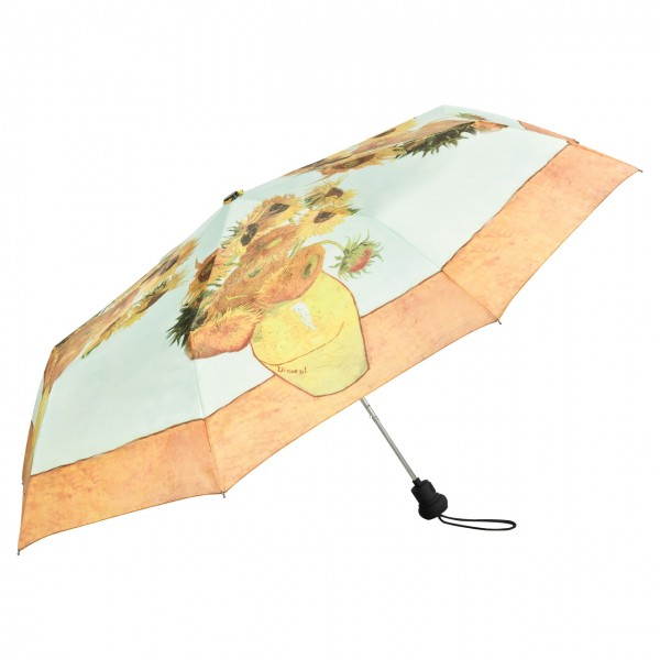 Folding Pocket Umbrella Automatic Telescopic Vincent van Gogh: Sunflowers