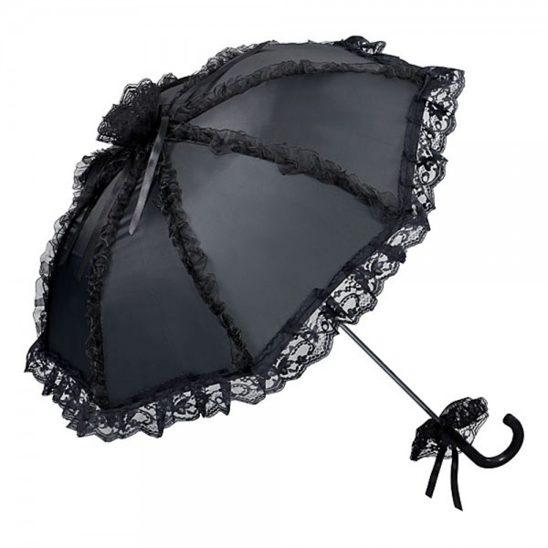 "Bridal umbrella ""Malisa"", black"