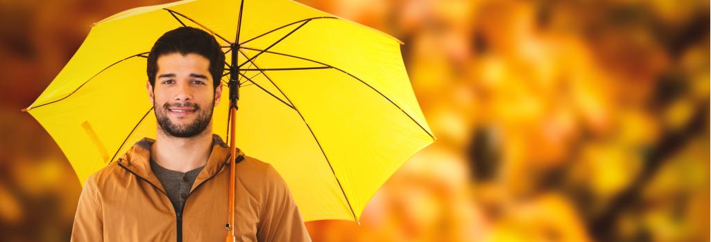Banner-herrenregenschirm