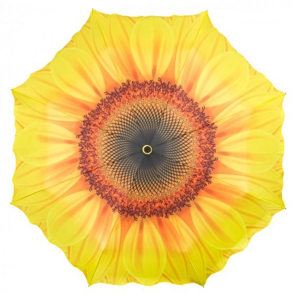 Taschenschirm Leicht Kompakt Sonnenblume Auf-Automatik