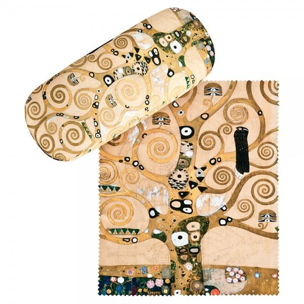Brillenetui  Hardcase Motiv Gustav Klimt: Lebensbaum