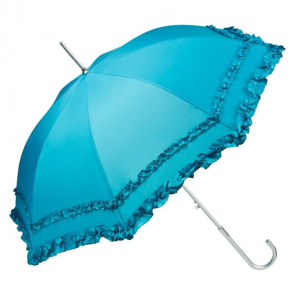 """Regenschirm Sonnenschirm Automatikschirm """"Mary"""", petrol"""