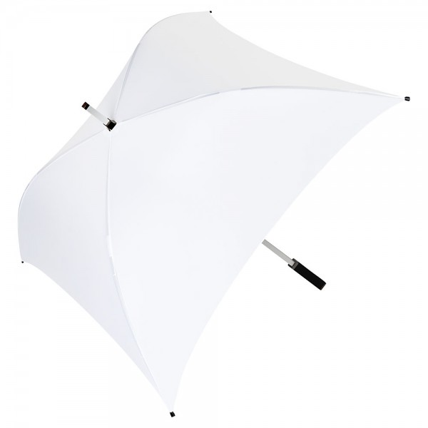 Regenschirm quadratisch Charlie weiß