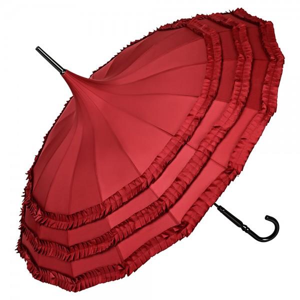 Pagoda umbrella Sarah, burgundy