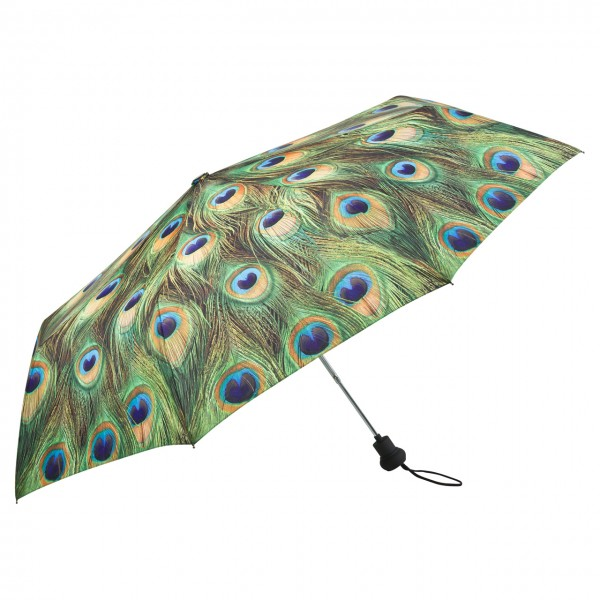 Folding Pocket Umbrella Automatic Telescopic Peacock