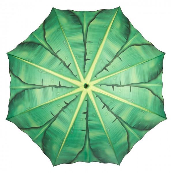 Regenschirm Automatik Bananenblatt
