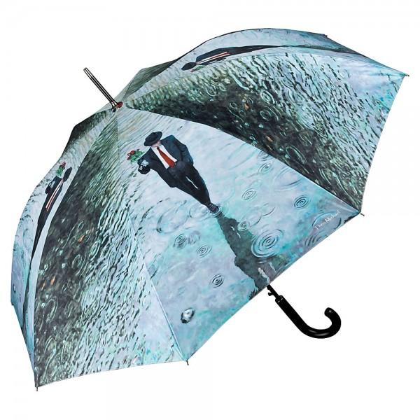 Regenschirm Kunst Motiv Automatik Theo Michael: Romance