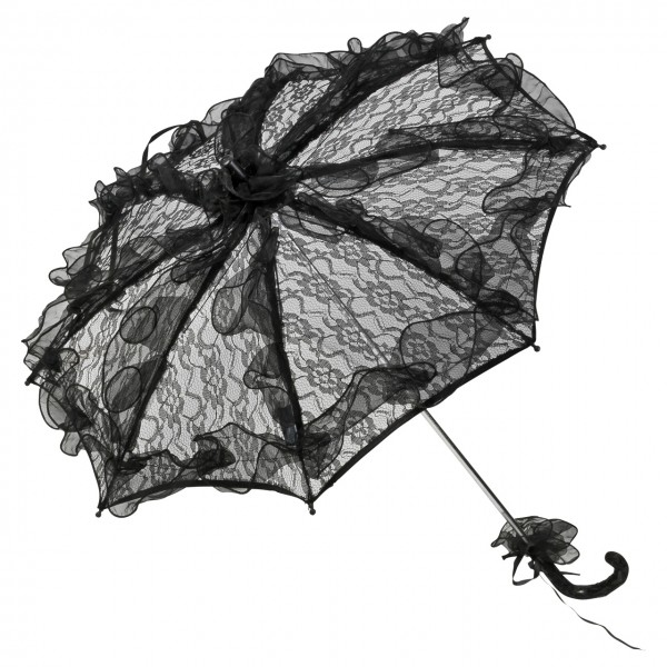 "Bridal umbrella ""Madeleine"", black"