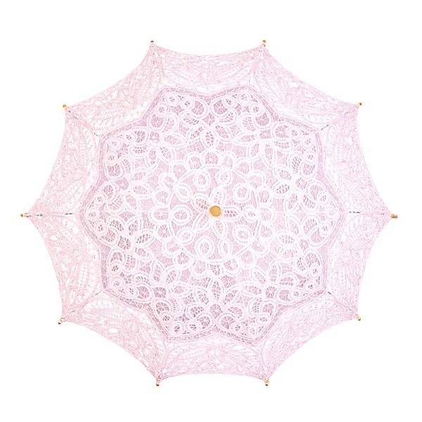 "Lace umbrella ""Vivienne"", light pink"