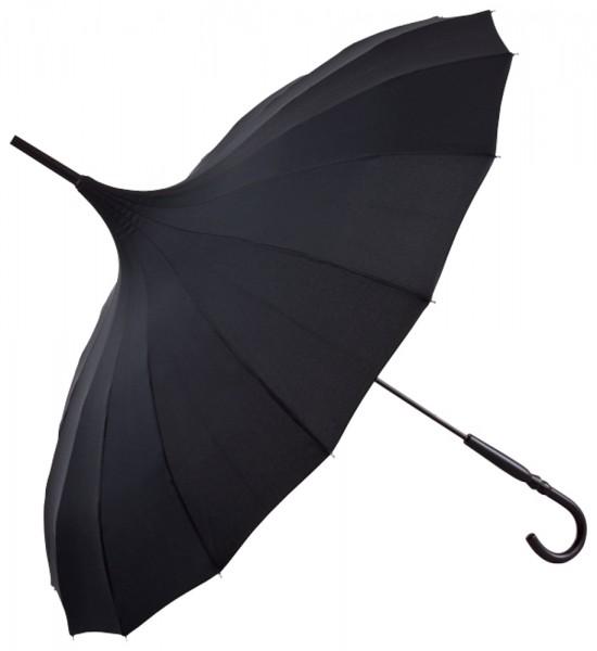 """Regenschirm Sonnenschirm Pagode """"Cécile"""", schwarz"""