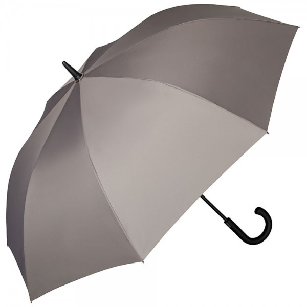 Regenschirm Auf-Automatik Herrenschirm Leo, grau