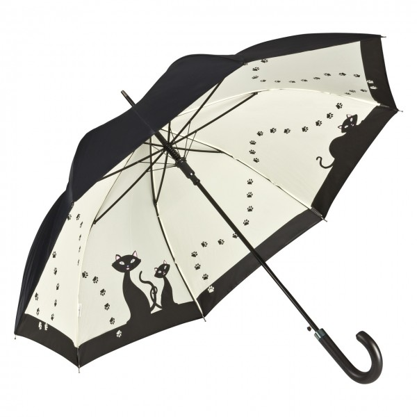 Umbrella Automatic Motif Black Cats, Double Layer