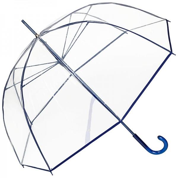 "Regenschirm transparent ""Melina"", blau"
