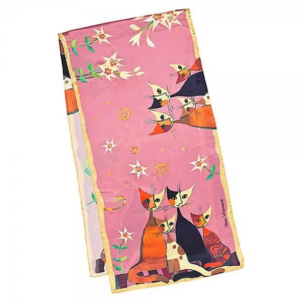 Seidenschal Satin lang 172 x 42 cm Rosina Wachtmeister: Lilien