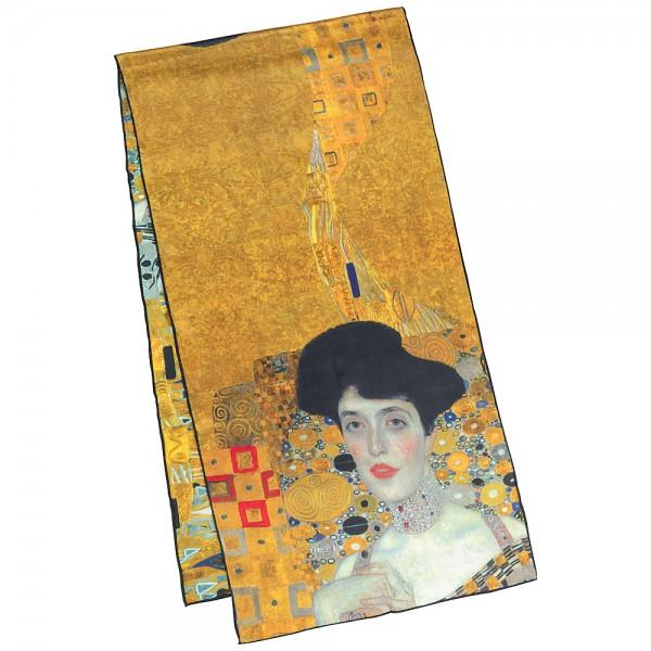 Seidenschal Satin lang 172 x 42 cm Gustav Klimt: Adele