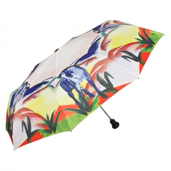 Folding Pocket Umbrella Automatic Telescopic Franz Marc: Blue Horses