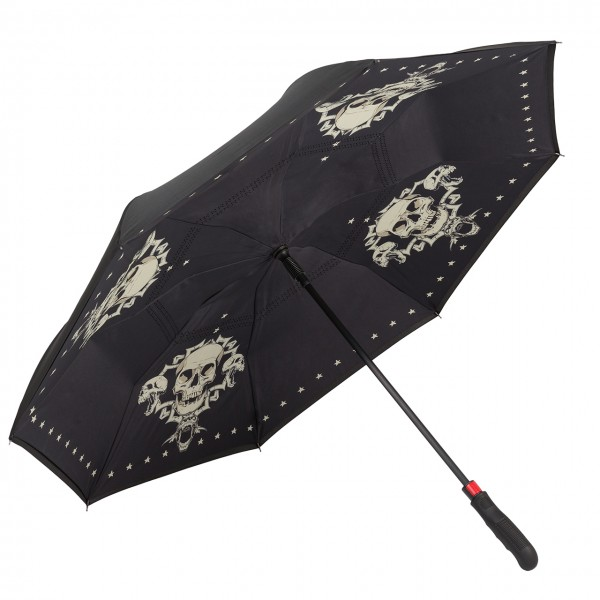 Regenschirm Automatik Skull, FlicFlac dppelt bespannt