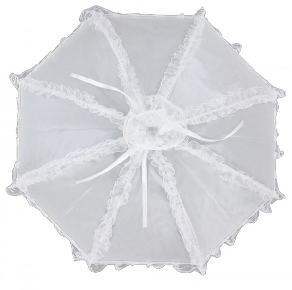 "Bridal umbrella ""Malisa"", white"