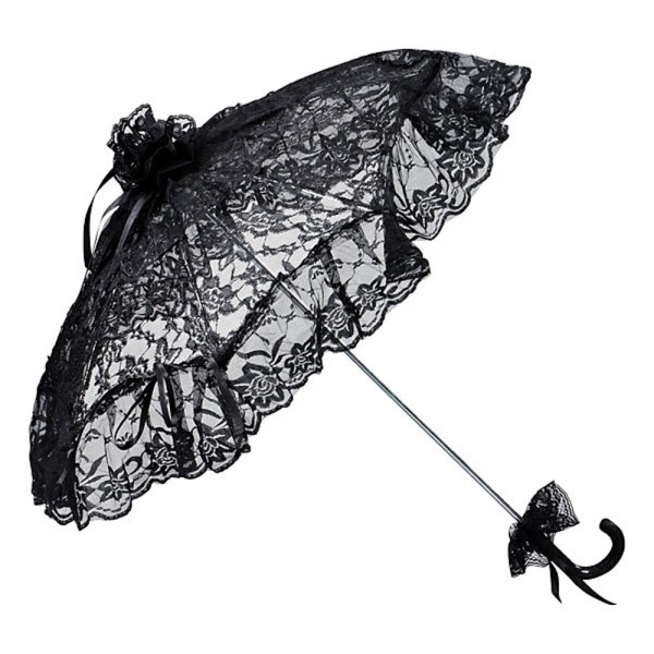 "Bridal umbrella ""Josephine"", black"