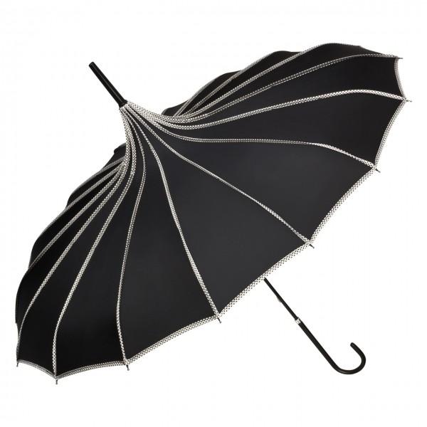 "Regenschirm Sonnenschirm Pagode ""Justine"", schwarz"