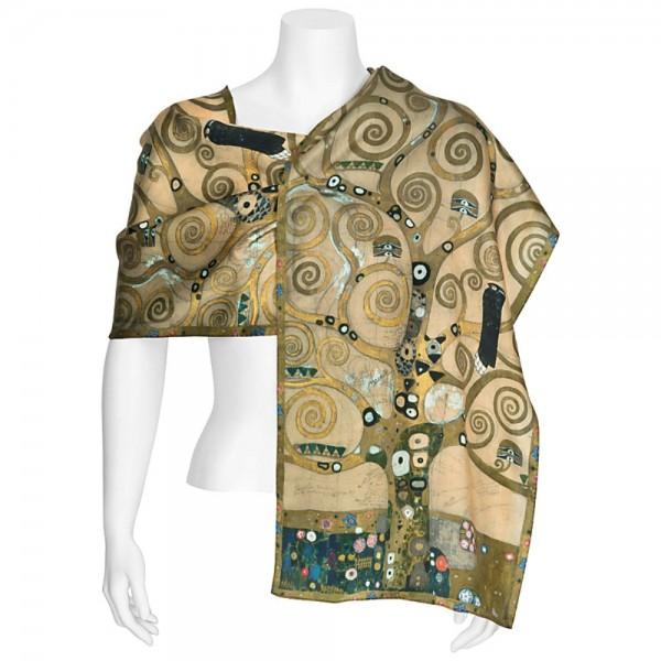 Seidenschal lang Kunstmotiv Gustav Klimt: Lebensbaum