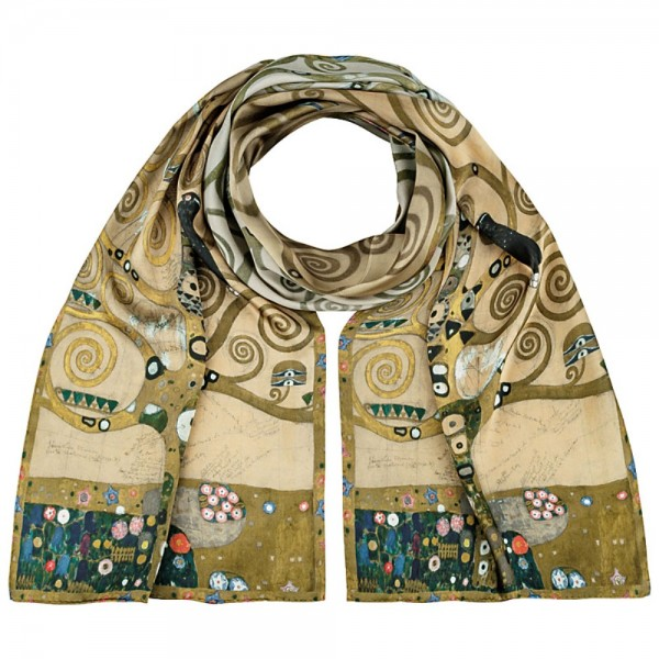 Long Scarf Satin Gustav Klimt: Tree of Life