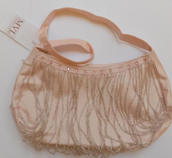 Abendhandtasche Handtasche rosa Perlen