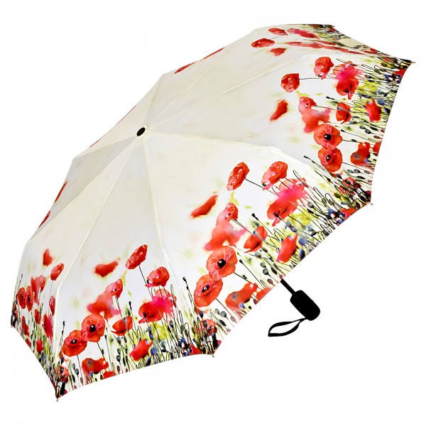 Folding Pocket Umbrella Automatic Telescopic Poppies
