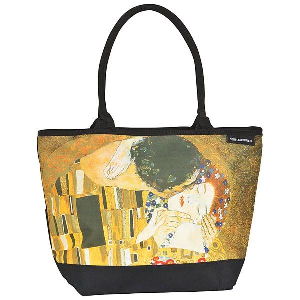 """Tasche Shopper bedruckt mit Motiv Gustav Klimt: """"Der Kuss"""""""