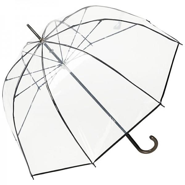 Regenschirm transparent durchsichtig Melina, schwarz