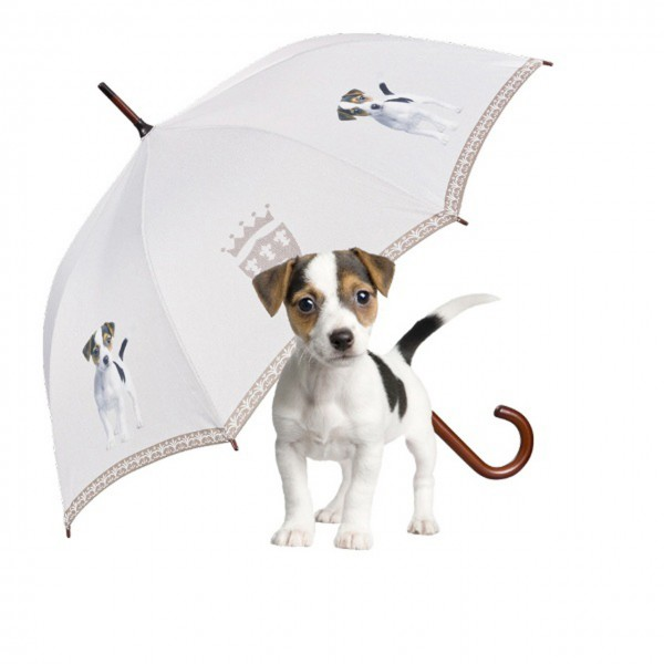 Umbrella Automatic Motif Art Jack Russell