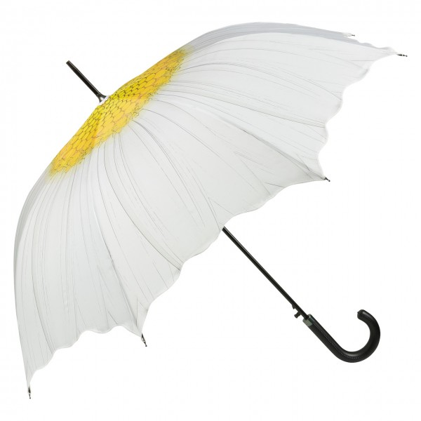 Regenschirm Automatik Blütenform Margerite